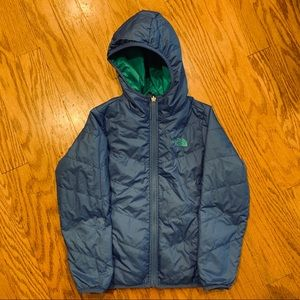 Reversible blue/green North Face Winter Jacket